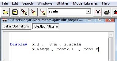 display-variables