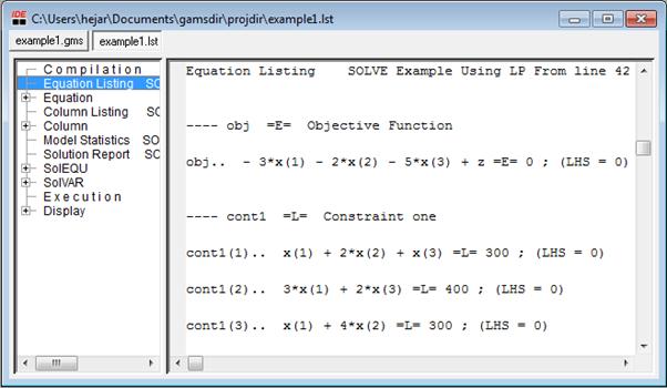 equatin listing